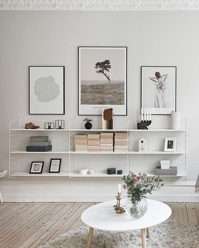 String Pocket shelving system. Love the simplicity!