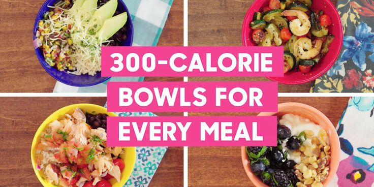 Here's a must-read article from Good Housekeeping:  4 Easy Low-Cal Bowl Recipes That Will Satisfy Your Cravings