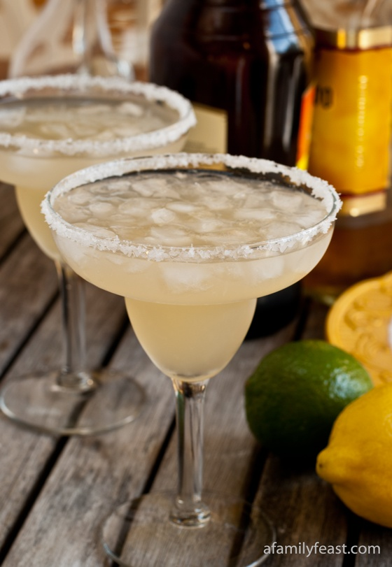 The Best Margaritas - you'll never think about buying a bottled mix again once you taste how great a margarita tastes with freshly squeezed juice and the perfect blend of tequila and triple sec.  So good!