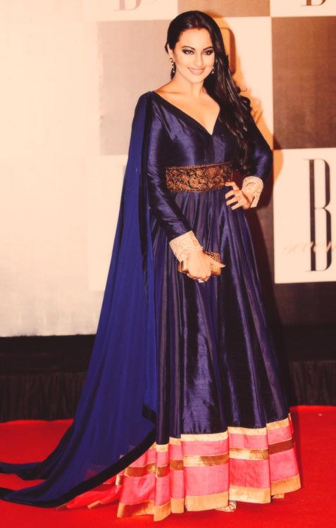 Sonakshi Sinha in royal blue