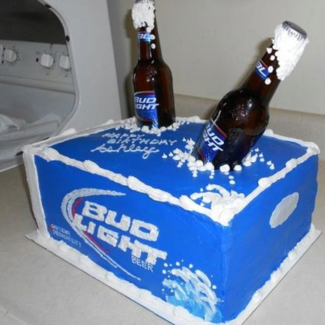Bud Light cake - nicely done!