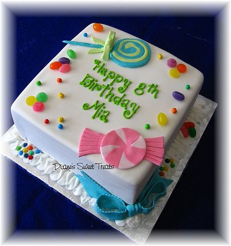 candy cake  by Diane's Sweet Treats - (Diane Burke), via Flickr    Love this design!