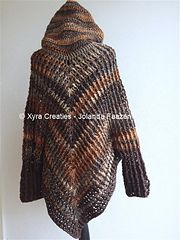 Ravelry: PATR1053 - Poncho with sleeves and hood pattern by Jolanda Faazen