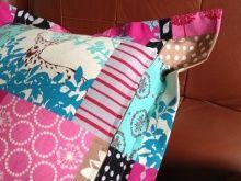 fabricsの毎日 -45cmサイズのクッションカバーの作り方 クッション裏側(右サイド縦にファスナーが付きます。)