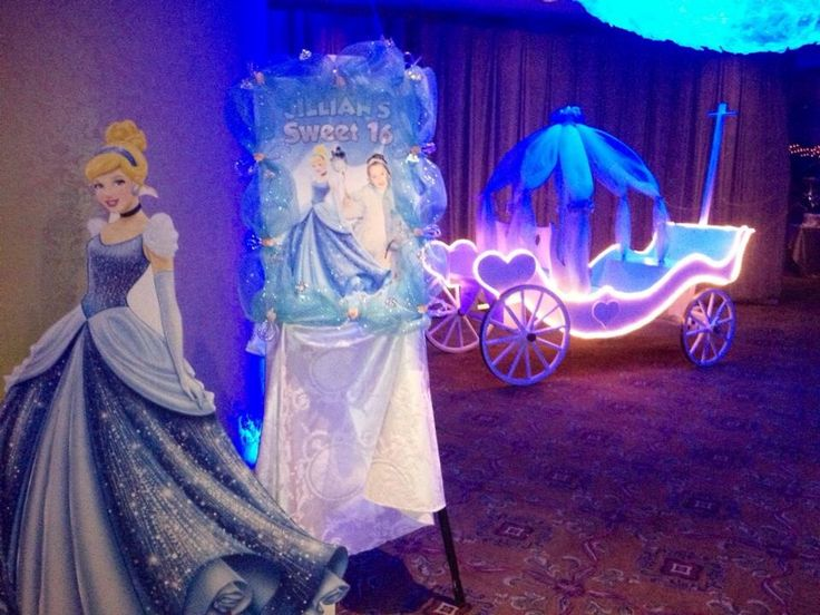 Another Cinderella theme sweet sixteen by AbbyBellaFairytales.