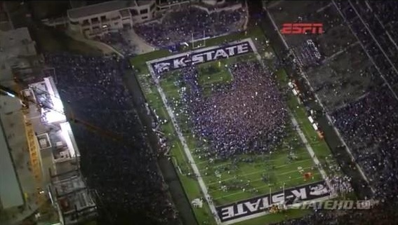 Bill Snyder Family Stadium after we beat Texas. To win the Big 12 Dec 1 2012