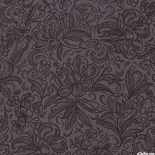 """Калла - Пионовый сад - темно-серый - 108"""" лоскутное одеяло бэк"""