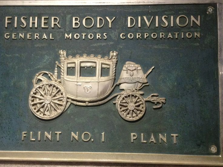 Fisher Body Division Plaque Flint michigan, Genesee county