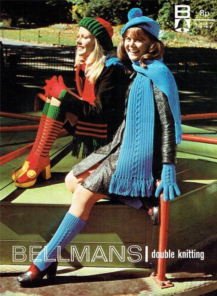 Original Vintage Bellmans Knitting Pattern - Lady's Gloves,Hats, Socks, Scarves | eBay