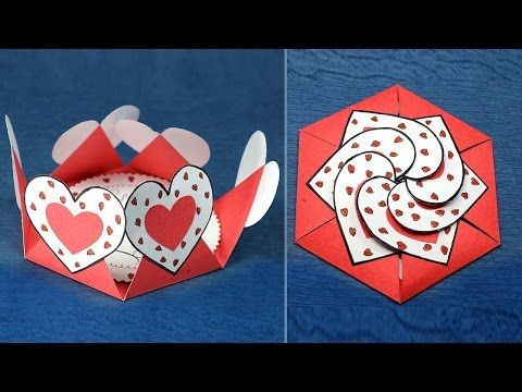 Love card sealed with hearts - learn how to make a heart-lock greeting card - EzyCraft - YouTube