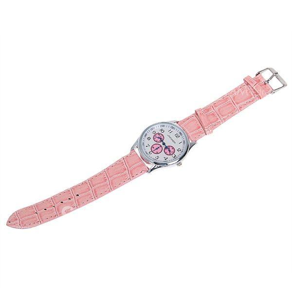 Precioso reloj rosado con correas de ecocuero
