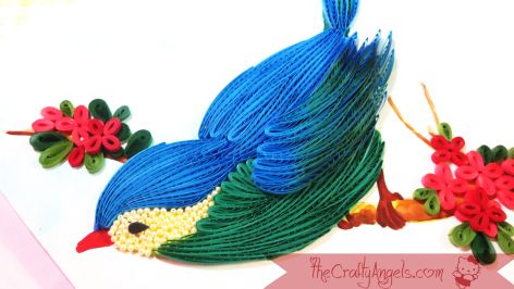 quilled bird quilling combing technique tutorial (17)