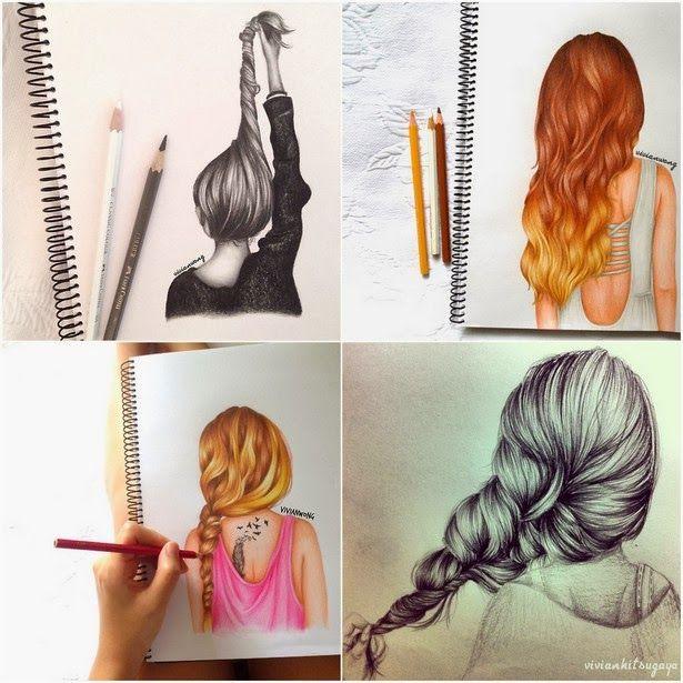 fotos de desenhos de penteados - Pesquisa Google
