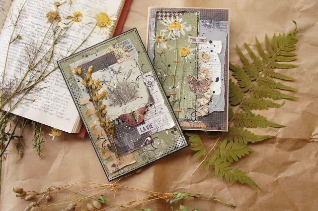 Бумажный кораблик: Две эко-открытки. Ни дня без скрапа и В Новый год без творческих долгов. Длинный-длинный пост!