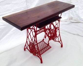 Unique TV Stand, Rustic TV Stand, TV Console, Singer Sewing Machine,  Singer Sewing Table, Industrial Furniture