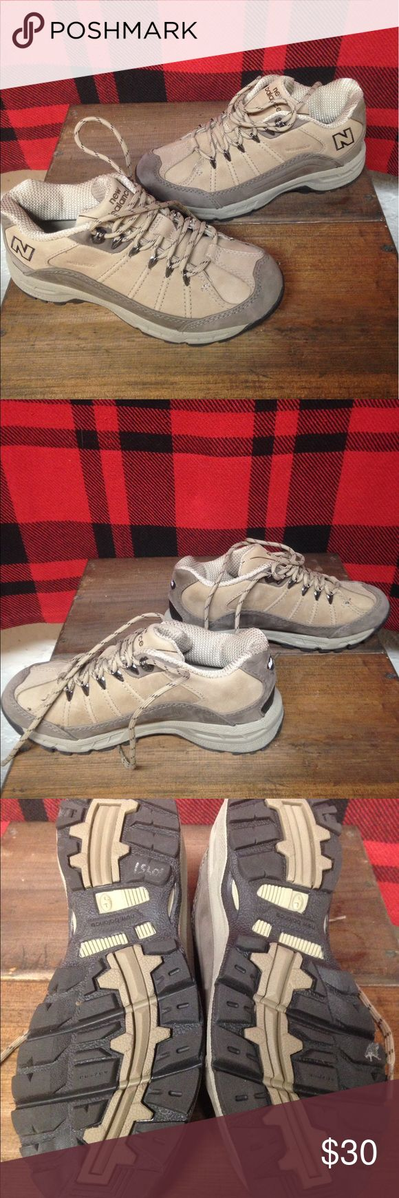 Euc new balance 966 hiking shoes sz 6 Excellent used condition New balance 966 hiking shoes wore once nice condition tan and brown sz 6 waterproof New Balance Shoes Athletic Shoes