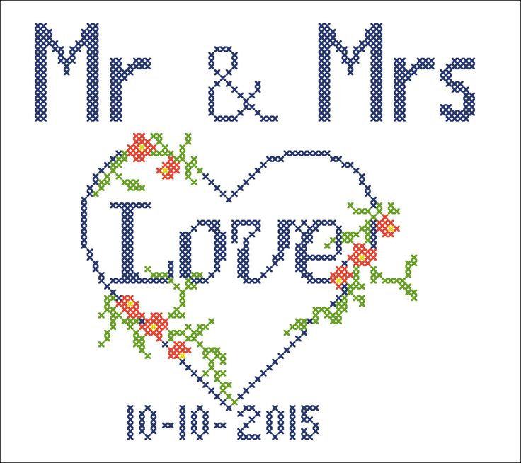 Wedding cross stitch pattern - Mr and Mrs Happy Keepsake -Xstitch Instant download- Wedding Announcement Personalised Wedding Gift #162 by Rainbowstitchcross on Etsy