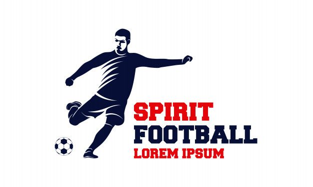 Soccer And Football Player Man Logo Vector Man Logo Football Players Football