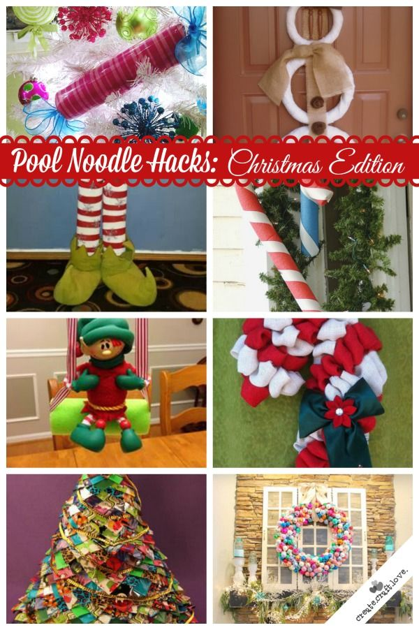 Pool Noodle Hacks: Christmas Edition! Everything from wreaths to Elf on the Shelf ideas!