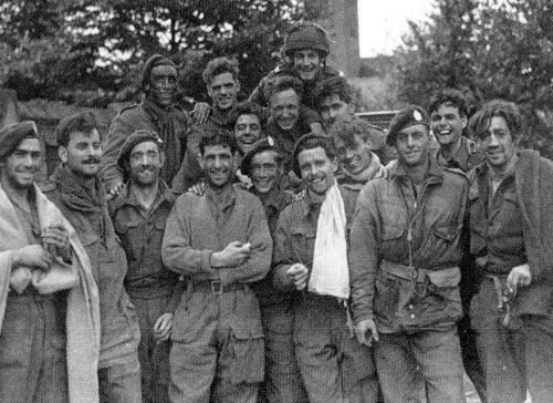 The morning of September 26, 1944; the exhausted survivors of the Oosterbeek perimeter (Operation Market-Garden) look relieved having crossed the Lower Rhine to safety.