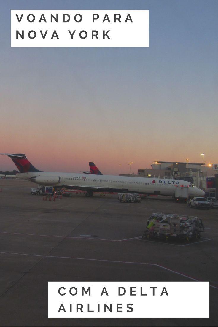 Voamos para Nova York com a companhia americana Delta Airlines e foi um ótimo voo. Saiba como foi. #deltaairlines #novayork #estadosunidos #viajantesempressa #espiandopelomundo