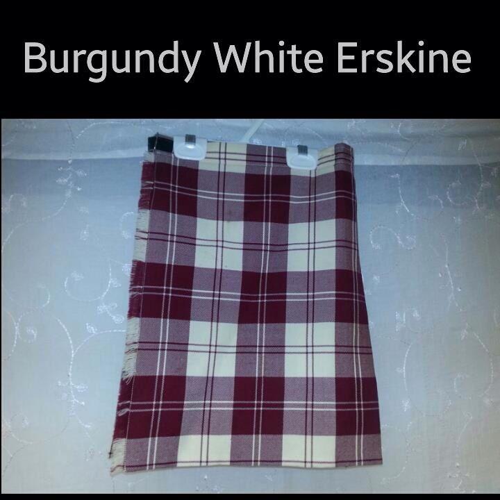 Burgundy White Erskine size 7-9yrs