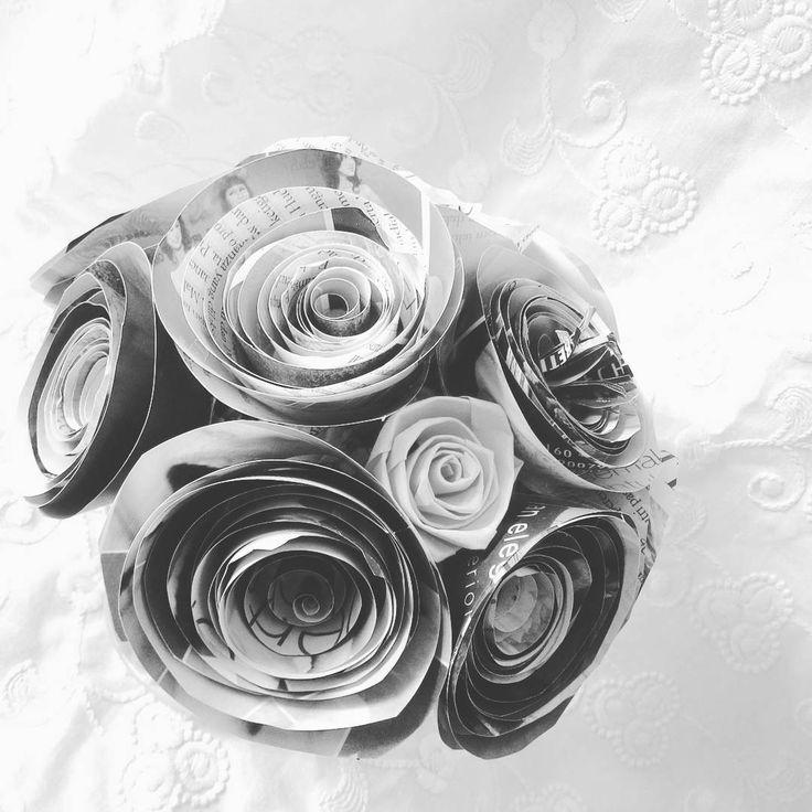 Simple rose paper flower