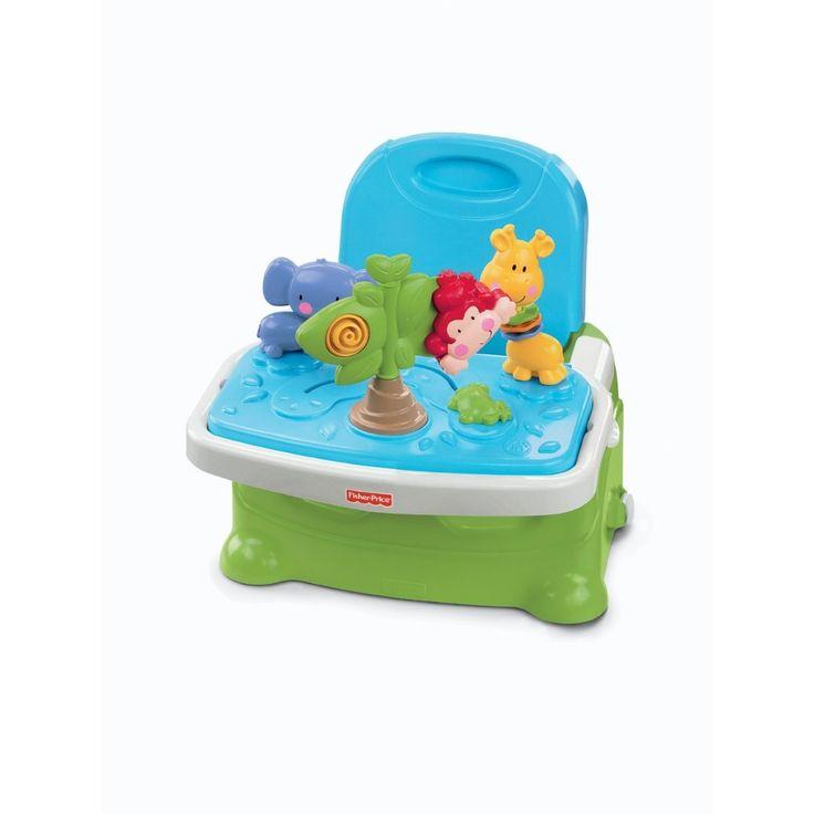 Necesitas ir de visita con tu bebé??? ideal para acompañar a tu bebé en sus comidas fuera de casa en www.balbuceos.cl te presentamos la silla de comer portátil bouncer time de Fisher price.