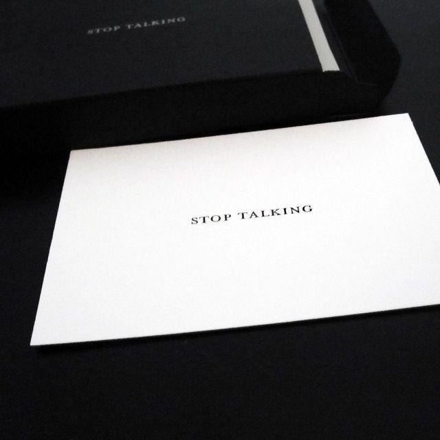 Fancy - Stop Talking Cards