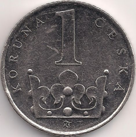 Wertseite: Münze-Europa-Mitteleuropa-Tschechien-Koruna-1.00-1993-2015