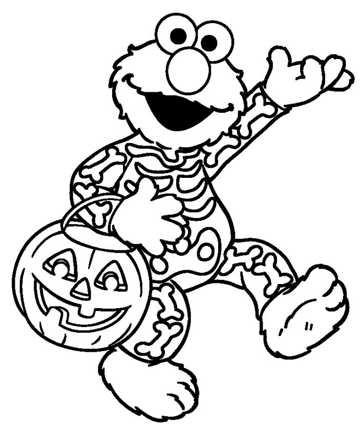 Free Elmo Halloween Coloring Pages free printable elmo coloring