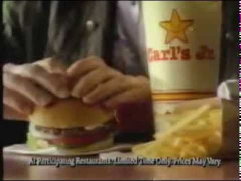 1989 Carl's Jr. Deluxe Hamburger Commercial - YouTube