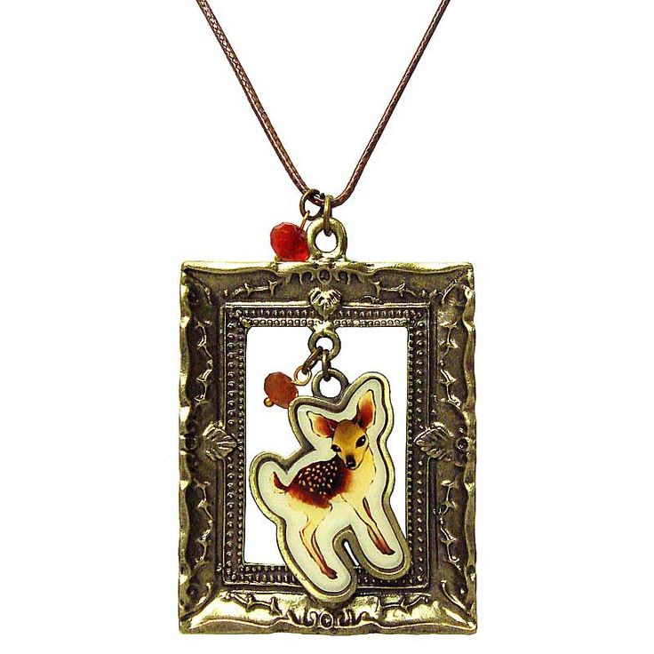 Deer Through The Frame Necklace