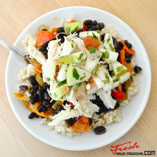 BLACK BEANS AND RICE WITH CHICKEN AND APPLES | Fresh news Magazine. Thats all you need