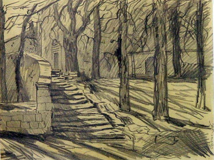 "KONUPEK Jan 1883-1950): ""Peruc"", kresba tužkou  1936"