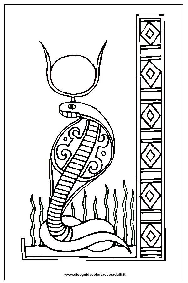 Wadjet A Cobra Head Figure Of Ancient Egypt Paharoh Coloring Page