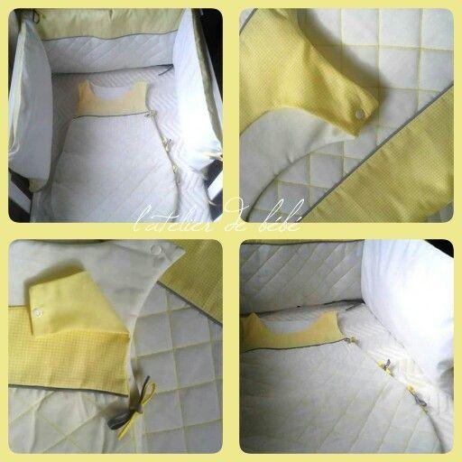 Creation  Tour de lit nid d'abeille 6500da