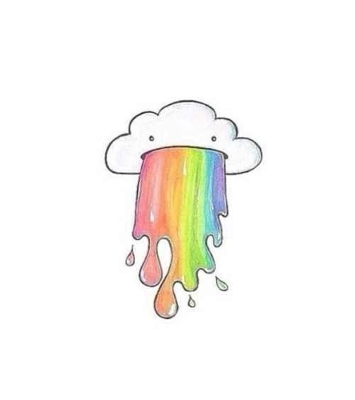 vomito de arco iris