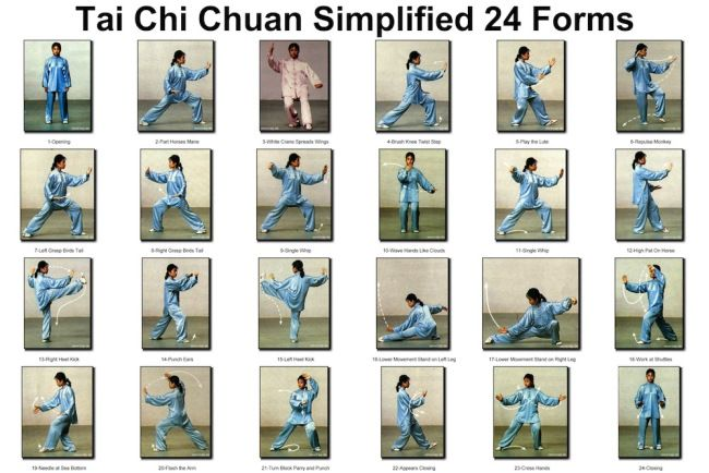 Tai Chi Chuan simplified 24 posses for Beginners