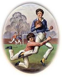 Rugby School - encyclopedia article about Rugby School Webb-Ellis at Rugby 1823