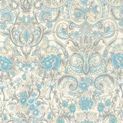 Robert Kaufman Fabrics: APTM-15408-79 COPEN by Peggy Toole from Tuscan Wildflower 3
