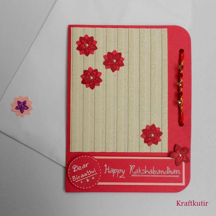 Superb Card Making Ideas For Raksha Bandhan Part - 8: Rakshabandhan Card .. Indian Handmade By Kraftkutir