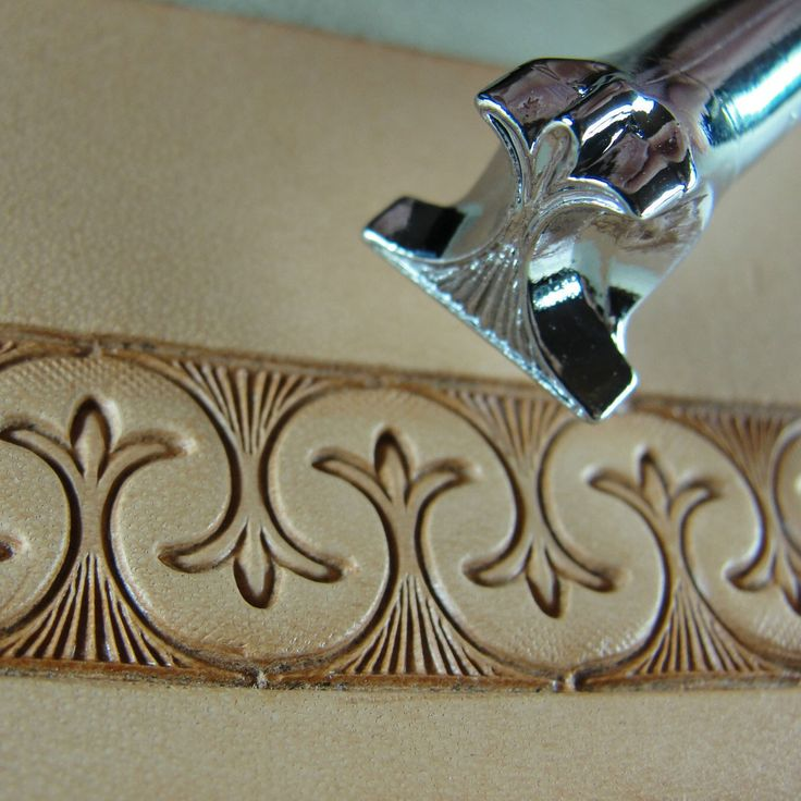 Leather Stamping Tool - Border Saddle Stamp Would make a neat border on a bowl.