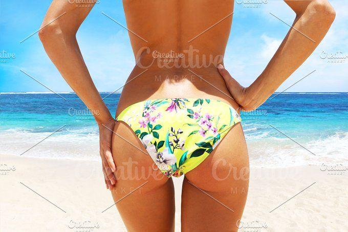 woman on the beach by Trefilova Anna on @creativemarket
