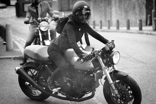 Ducati Dame at the Distinguished Gentlemans ride 2012 by Sam Christmas.