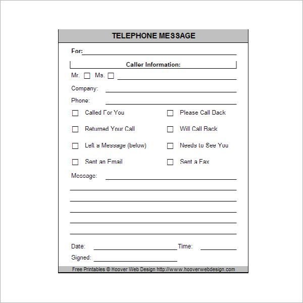 Printable-Phone-Message