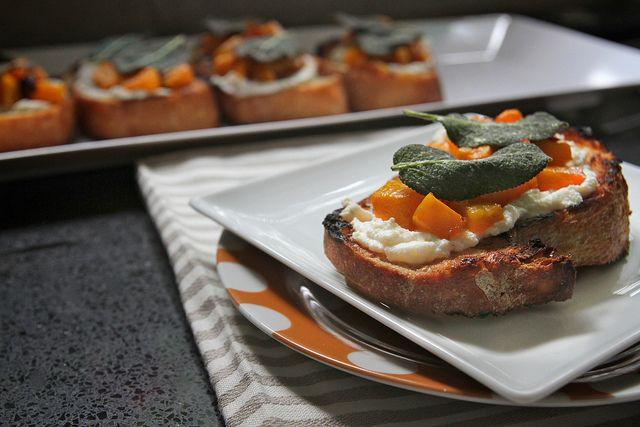 butternut squash ricotta & sage crostini by shutterbean, via Flickr