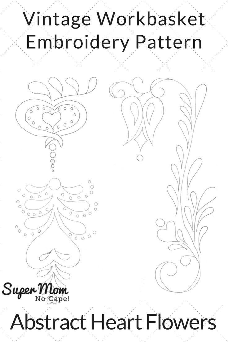 185 best embroidery vintage workbasket patterns images on vintage workbasket embroidery pattern abstract heart flowers click thru to download the free pattern dt1010fo