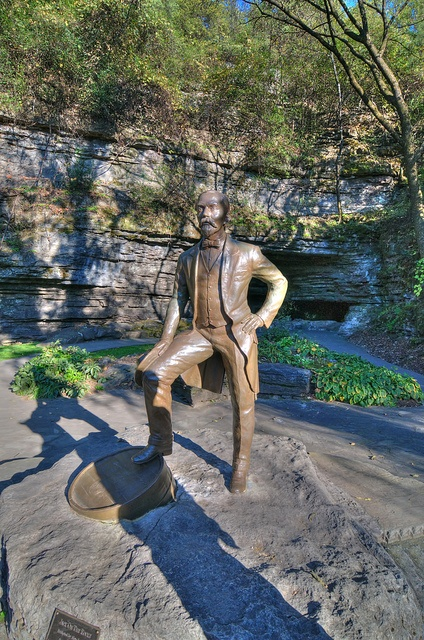 Jack Daniels Distillery - The man himself in front of the spring that makes Jack's what it is
