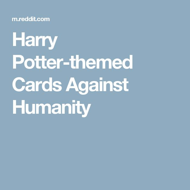 Harry Potter-themed Cards Against Humanity